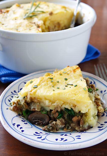 nava-shepherd-pie, lentils, mushrooms