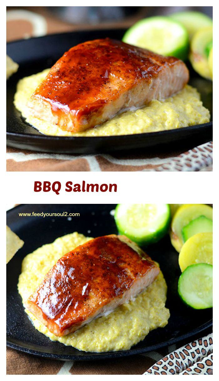 BBQ Salmon #BBQ #dinner #seafood #Memorialday | feedyoursoul2.com