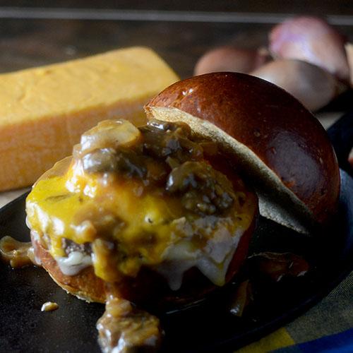 Marsala Mushroom Cheeseburger