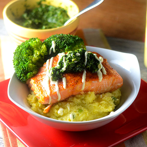 Mexican Spiced Salmon Topped with Chimichurri
