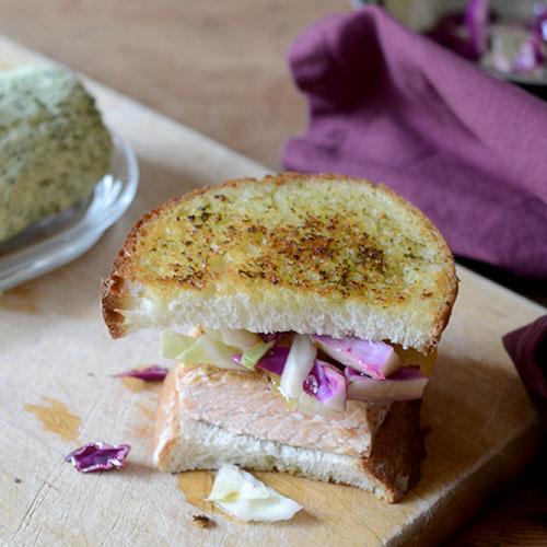 Salmon Pesto Sandwich /www.feedyoursoul2.com