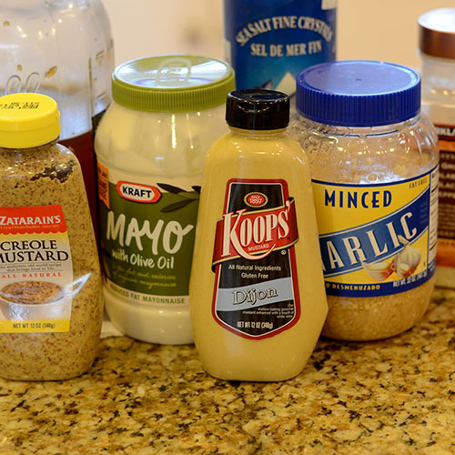Mustard Aioli Ingredients