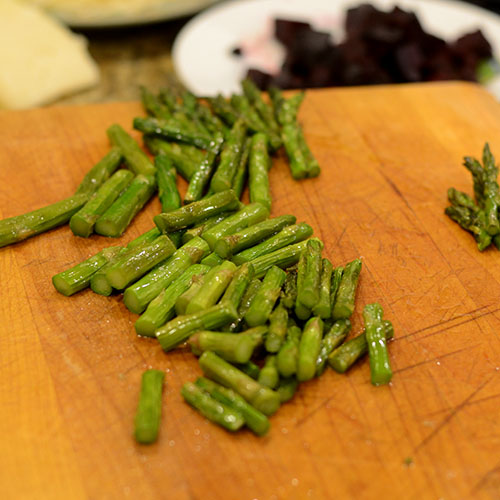 Baked and Cut Asparagus