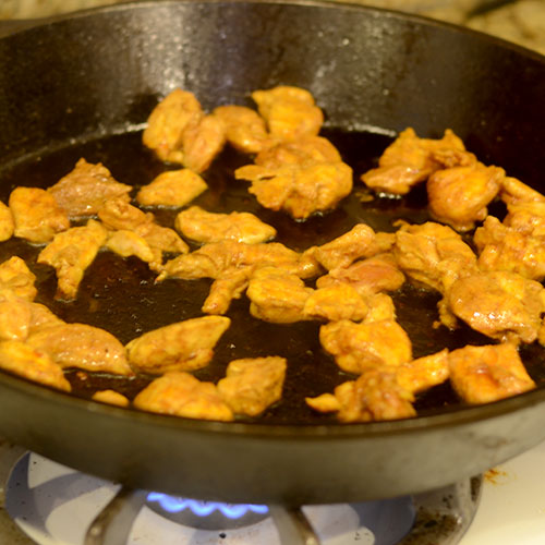 Chicken in Cast Iron Skillet