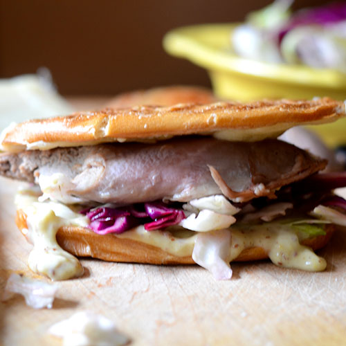 Duck Sandwich with Mustard Aoli / www.feedyoursoul2.com