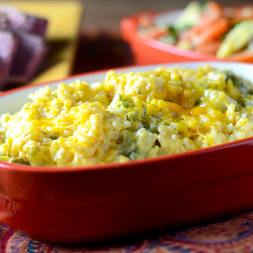 "Broccoli Cheese Rice Casserole #sidedish #broccoli #casserole | feedyoursoul2.com"""