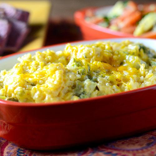 Broccoli Cheese Rice Casserole #sidedish #broccoli #casserole | feedyoursoul2.com