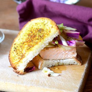 Salmon Pesto Sandwich