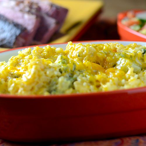 Broccoli Cheese Rice Casserole from Feed Your Soul Too