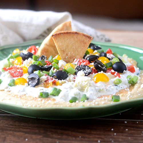 Greek 7 Layer Dip from Feed Your Soul Too