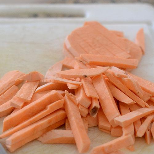 Sweet Potatoes Sliced