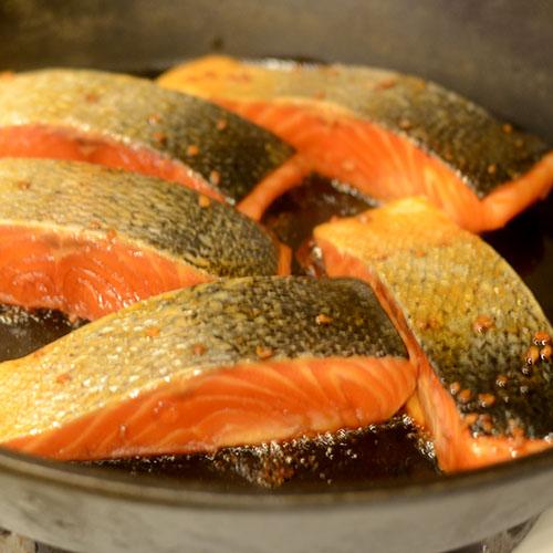 Salmon in Skillet
