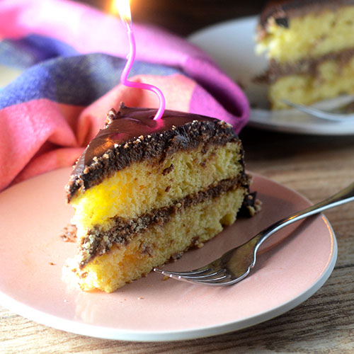Layer Cake with Marscapone Filling