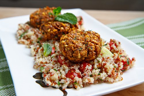 Falafel on Couscous