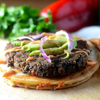 Black Bean Burger Quesadilla