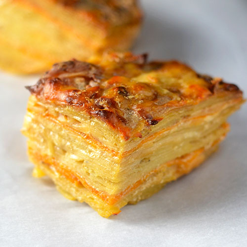Two Layered Potatoes #sidedish #potatoes #entertaining | feedyoursoul2.com