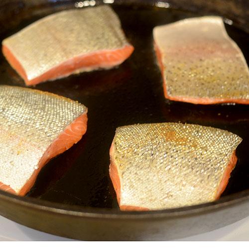 Charring Salmon