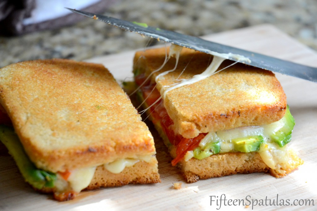 Grilled Cheese Avocado and Tomatoes