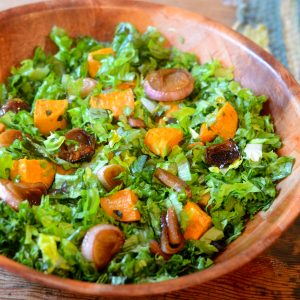Sweet Potato and Caramelized Shallot Salad