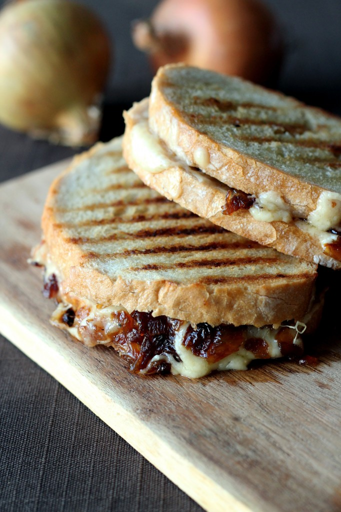 Toast and Caramelized Onions and Cheese