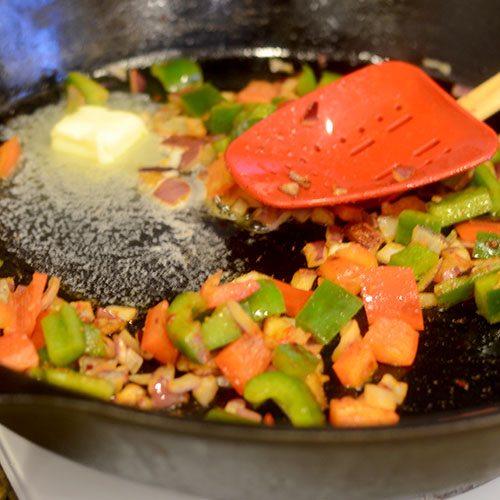 Vegetables Sauteeing in Skillet