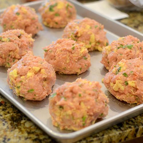 Meatballs on Tray