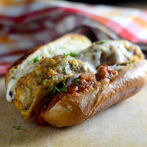 """""""Turkey Meatball Sandwich #Italian #Sandwich / Feed Your Soul Too"""