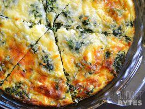 Spinach-Mushroom-Crustless-Quiche