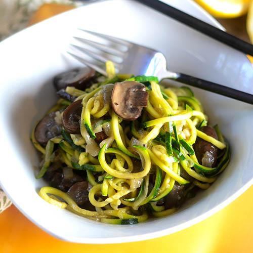 Mushroom Zucchini Noodles