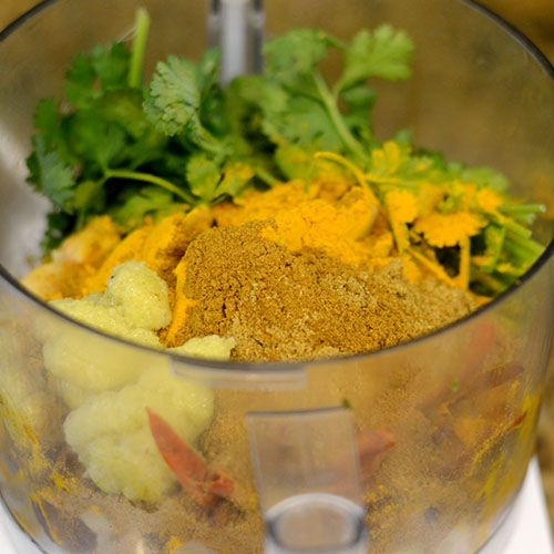 Curry Ingredients in Cuisinart