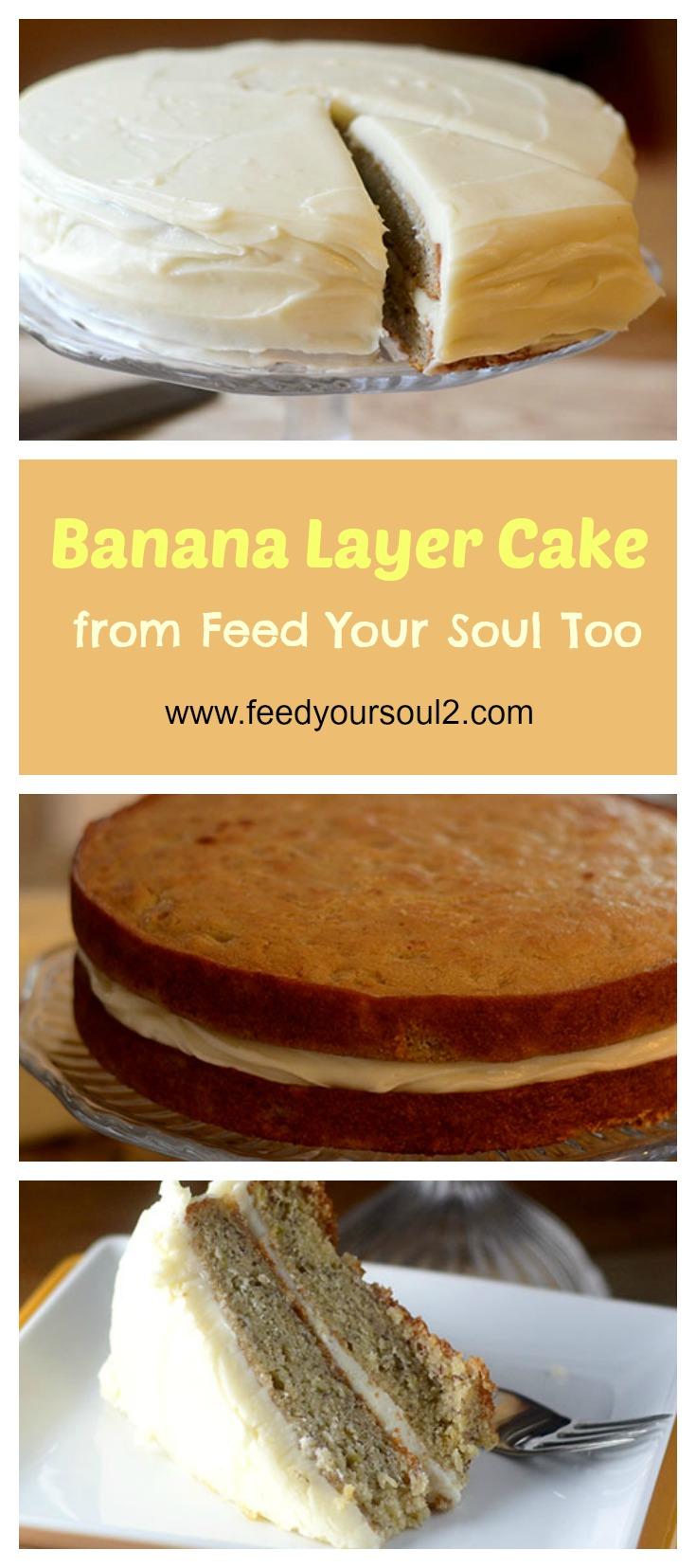 Banana Cake #dessert #cake #bananas | feedyoursoul2.com
