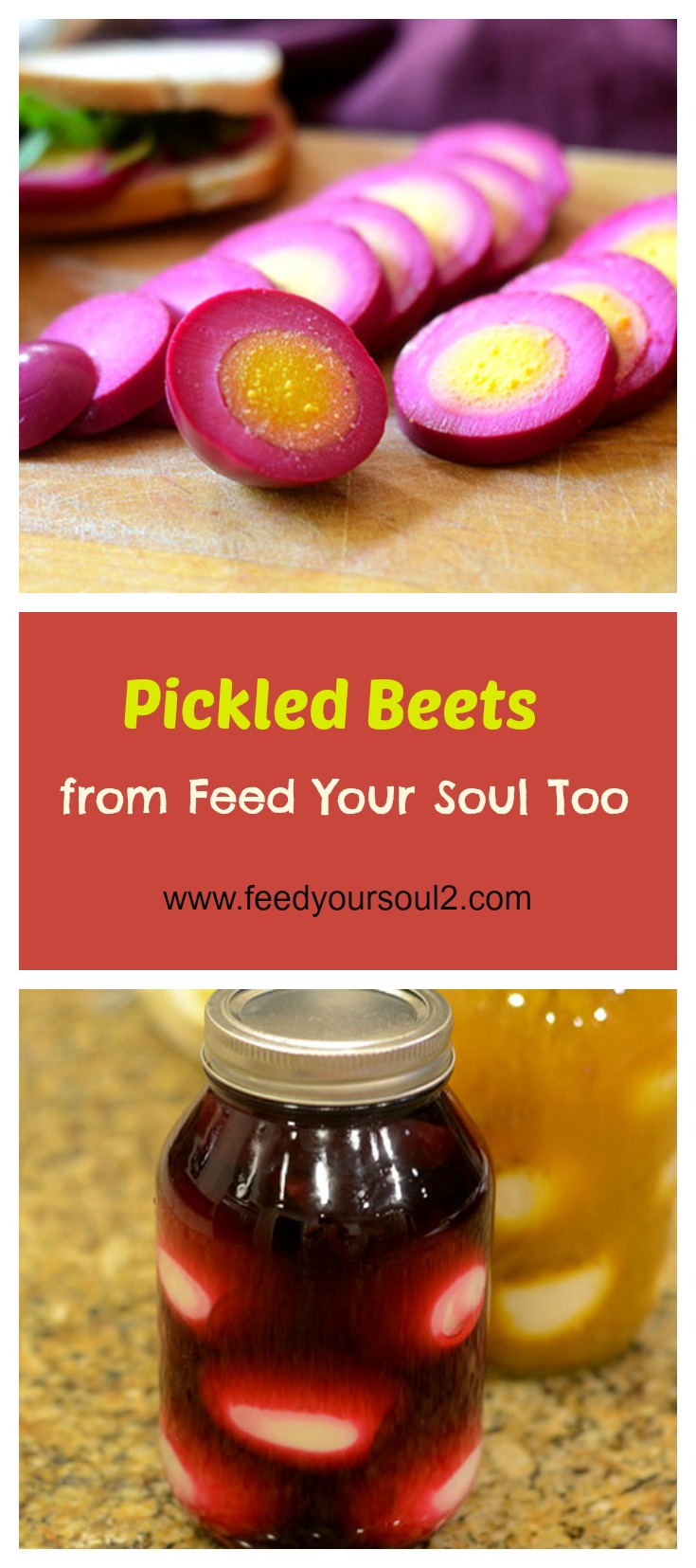 Beet Pickled Eggs #appetizer #canning #beets | feedyoursoul2.com