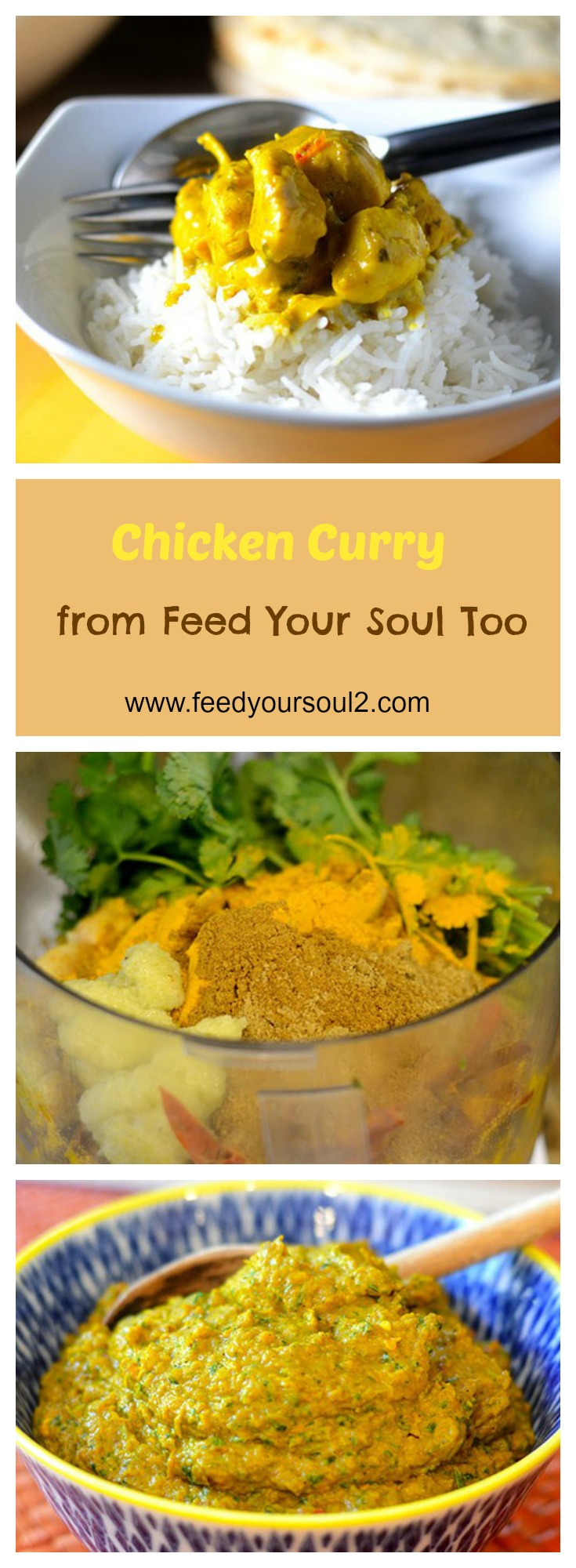 Chicken Curry #Indianfood #curry #onepotmeal | feedyoursoul2.com