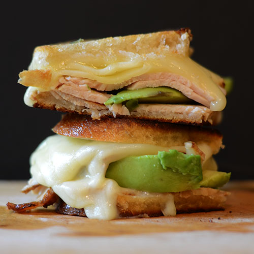 Grilled Turkey, Havarti & Avocado Grilled Cheese