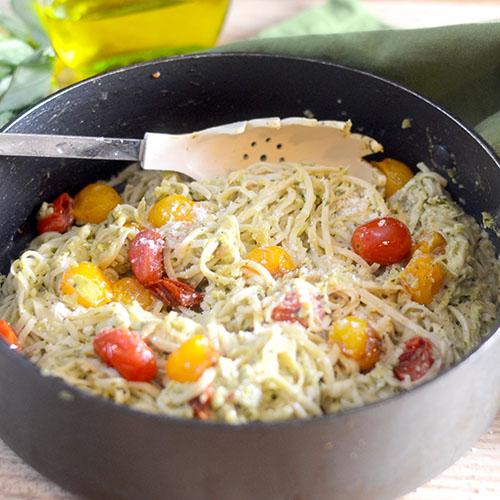 Green Pepper Basil Pasta