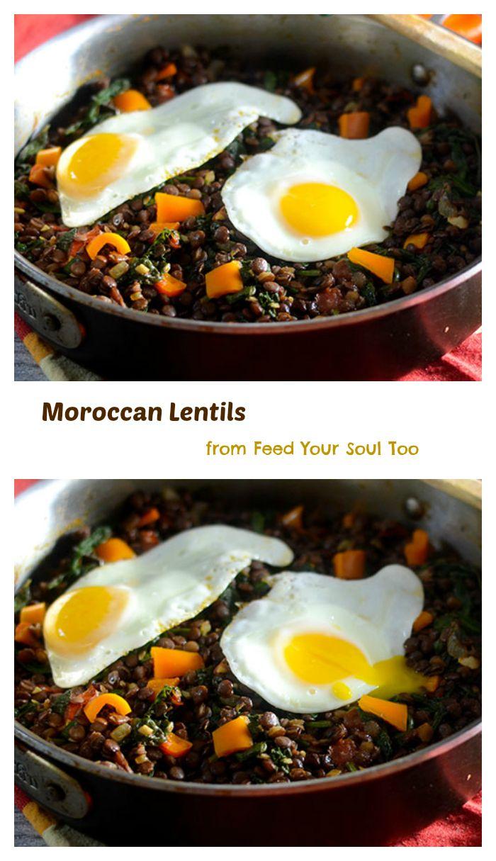 A Moroccan Lentils vegetarian dish