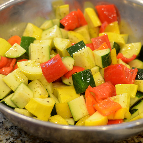 Rustic Cut Vegetables In Dressing