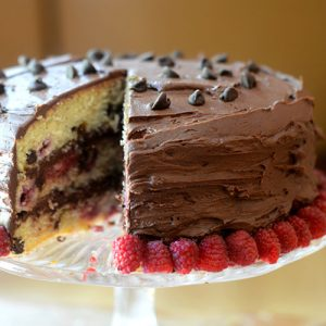 Raspberry Chocolate Chip Cake Feed Your Soul Too