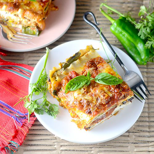 Mexican Lasagna #Pasta #fusion #Mexicanfood | feedyoursoul2.com