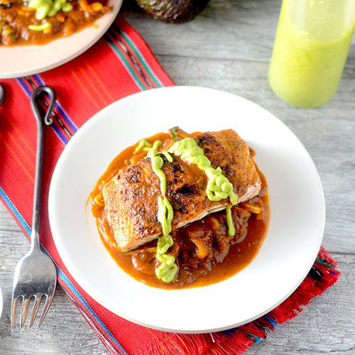 Mexican Salmon from Feed Your Soul Too