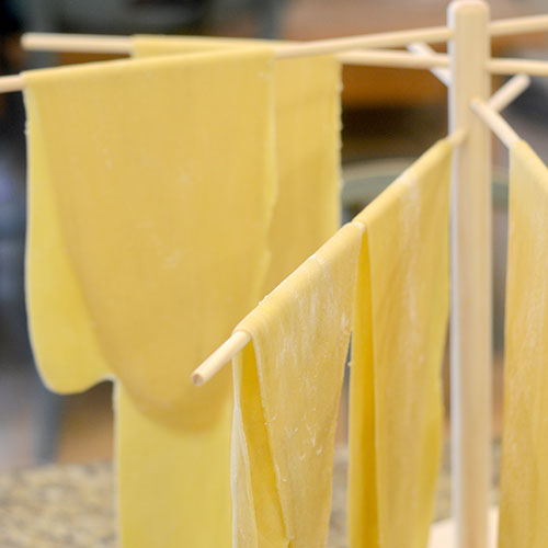 Pasta on Drying Rack