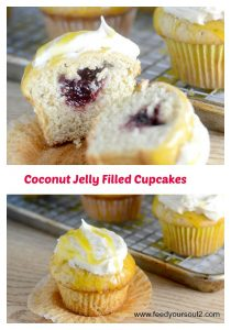 Coconut Jelly Filled Cupcakes