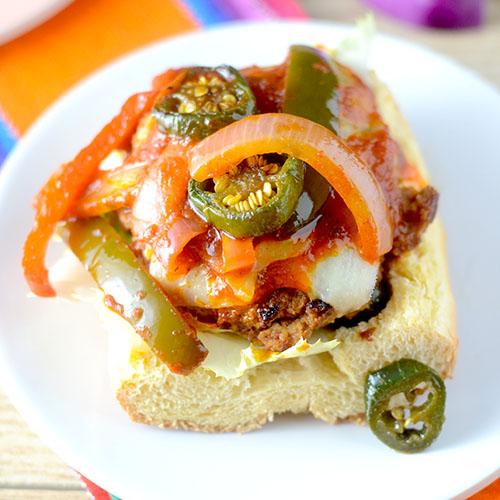 Skinny Fiesta Turkey Burger