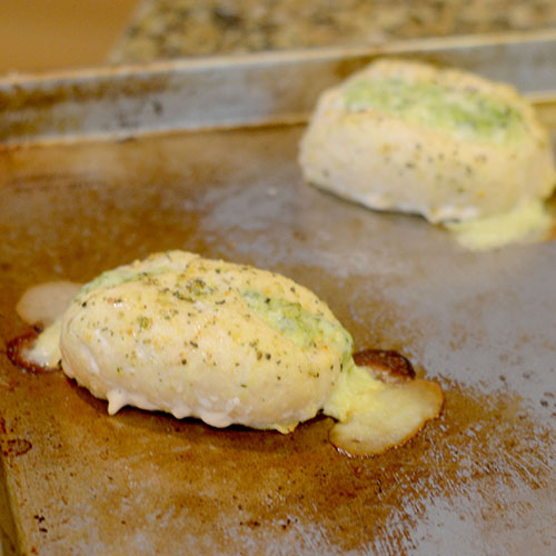 Barber Foods Chicken Breast Stuffed with Broccoli and Cheese on After Baking