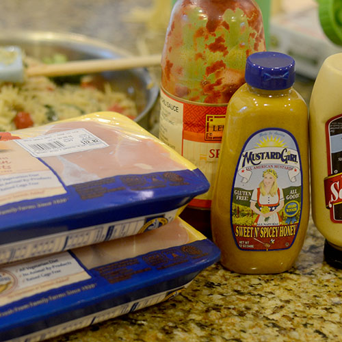 Chicken and Mustard Ingredients