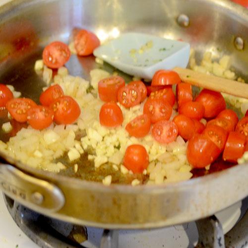 Tomatoes, Onion & Garlic Added