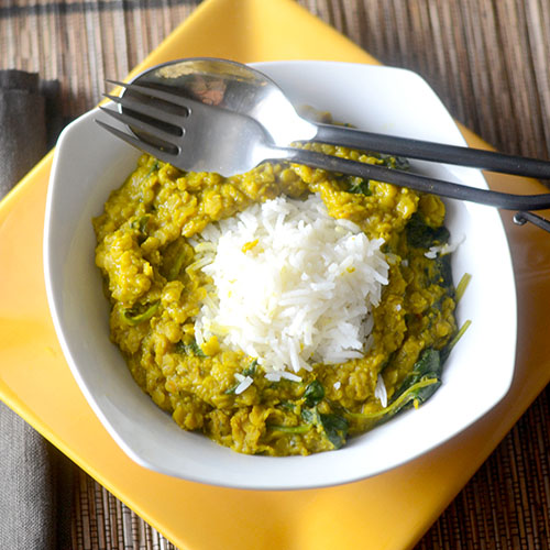 Yellow Curry Lentils