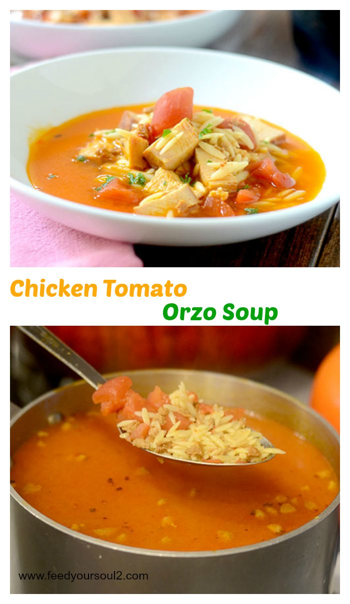 Chicken Tomato Orzo Soup