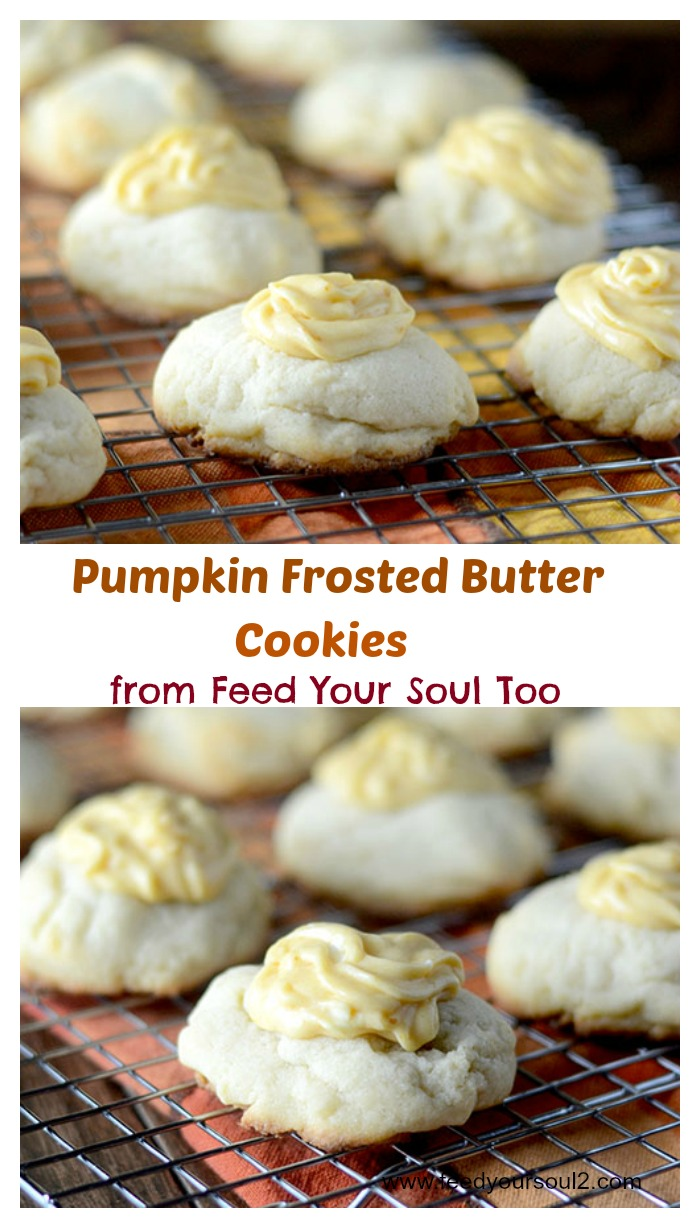 Pumpkin Frosted Butter Cookies