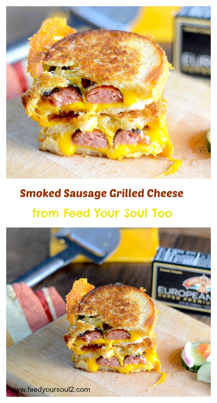 Smoked Sausage Grilled Cheese